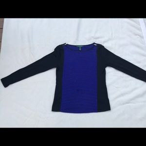 Black and blue top by Ralph Lauren